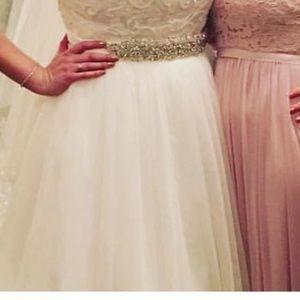 David's Bridal sash